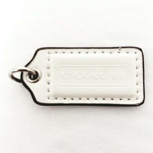 Coach White Patent Leather Hang Tag